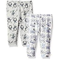 Rosie Pope Baby Pack Of Two Pants, White/Gray, 0-3 Months