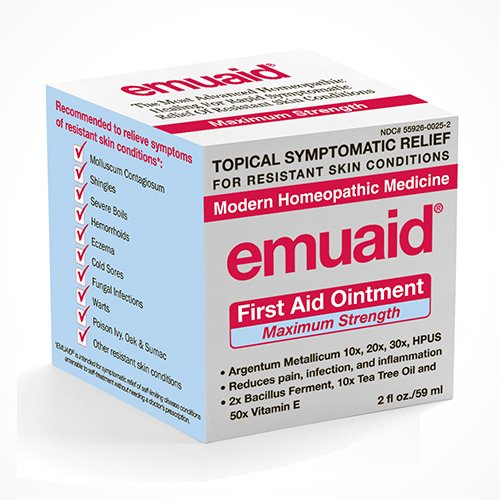 EmuaidMAX - First Aid Ointment for irritated skin, 2oz (Pack of 2) by Emuaid