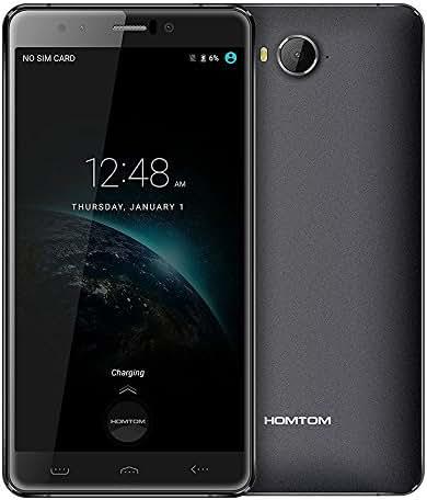 HOMTOM HT10 Smartphone Deca Core 4GB RAM 32GB ROM Dual SIM Android 6.0 21.0MP Back Camera Iris Unlock Mobile Cell Phone(Black)