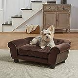 Enchanted Home Pet Cleo Ultra Plush Pet Sofa, Brown