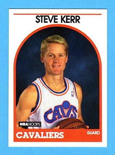 Steve Kerr 1989-90 Hoops Basketball Rookie Card (Near-Mint) Sharp !! (Vivid Color) Golden State Warriors Head Coach