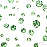 PERIDOT (214) green 144 pcs Swarovski 2058/2088 Crystal Flatbacks green rhinestones nail art mixed with Sizes ss5, ss7, ss9, ss12, ss16, ss20, ss30