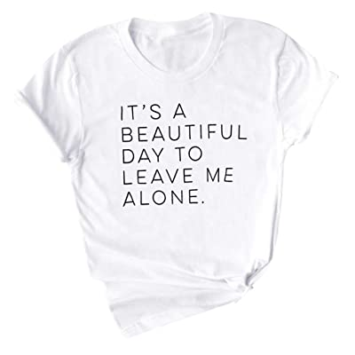 Meikosks Ladies Short Sleeve Pullover Fashion Letter Printed Tshirt Short Sleeve Tops: Clothing [5Bkhe0403433]
