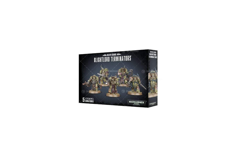 Games Workshop 99120102074'' Death Guard Blightlord Terminators Miniature by Games Workshop