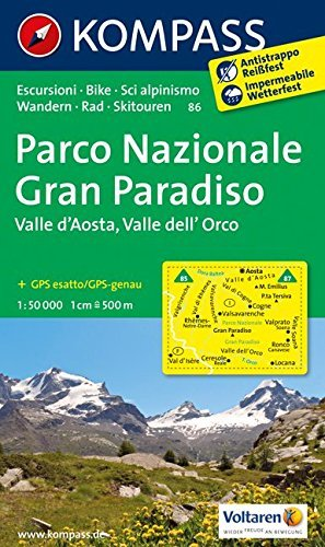 Gran Paradiso 86 09 Gps Wp Kompass Valle by Kompass-Karten (2012-10-13)