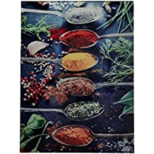 """Cortesi Home A Pinch of Spice Tempered Glass Wall Art, 12"""" x 16"""""""