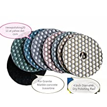 4 Inch 5 Inch Diamond DRY Polishing Pad 40 Pieces shine granite poishing marble polishing concrete polishing travertine polishing quartz polish lapidary abrasive disc do monster duty