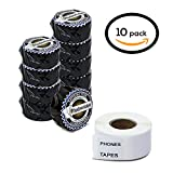 """Dymo Compatible 30333 LabelWriter Self-Adhesive White Extra Small 2-Up Multipurpose Labels, 1/2"""" x 1"""" (10 Rolls, 1000 Labels Per Roll)"""