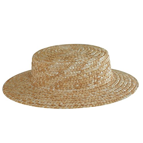 Lawliet Solid Color Straw Stripe Mini Top Hat Craft Fascinator A224 (Natural)