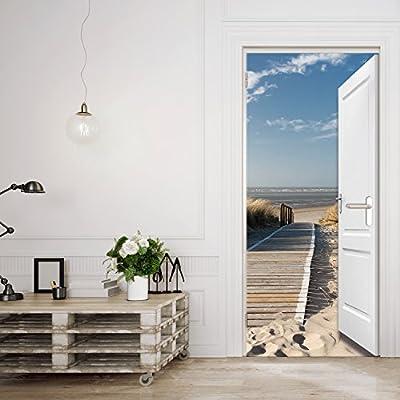 murimage Carta Parati Porta Mare 3D 86 x 200 cm Spiaggia Oceano Dune  passerella Bagno Cucina Soggiorno Camera fotomurali Poster Gigante  Wallpaper ...