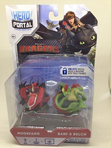 Dragons Hero Portal Booster Pack Hookfang and Barf & Belch (Portal Hero Dragons)