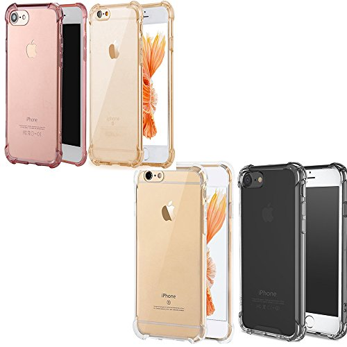 iPhone7 Plus Cases [4 Pack]iBarbe Protective Cover Hard TPU Dust-Protection Scratch-Protection Drop-Protection Sleek Streamlined Protection Easy Installation Premium