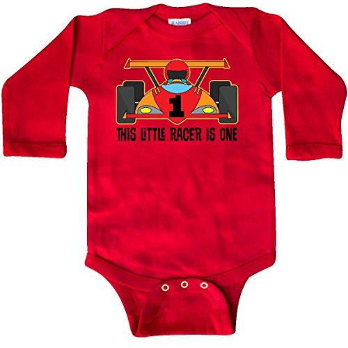 inktastic - 1st Birthday Race Car Boys Long Sleeve Creeper 18 Months Red 2502a - Sleeve Race Long Boys Infant