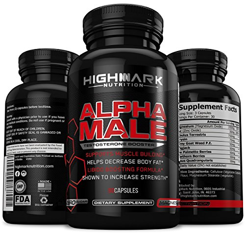 Alpha Male Natural Testosterone Booster For Men By Highmark Nutrition -2229