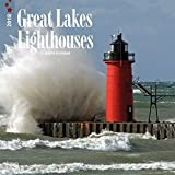 Lighthouses, Great Lakes 2018 Monthly Square Wall Calendar