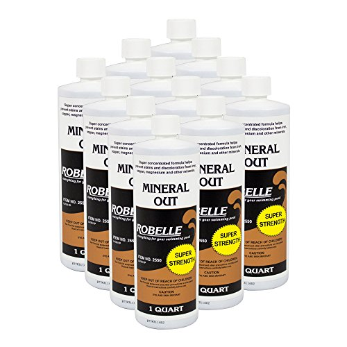 Robelle 2550-12 Mineral Out Stain Remover for Swimming Pools, 1-Quart, 12-Pack