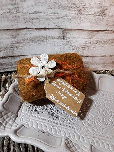 Eingefilzte Seife Naturkosmetik ORANGE Filzseife Weihnachten