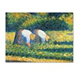 This ready to hang, gallery-wrapped art piece features two people working in a field. Georges Seurat was a French Post-Impressionist painter and draftsman. He is noted for his innovative use of drawing media and for devising the technique of painted ...