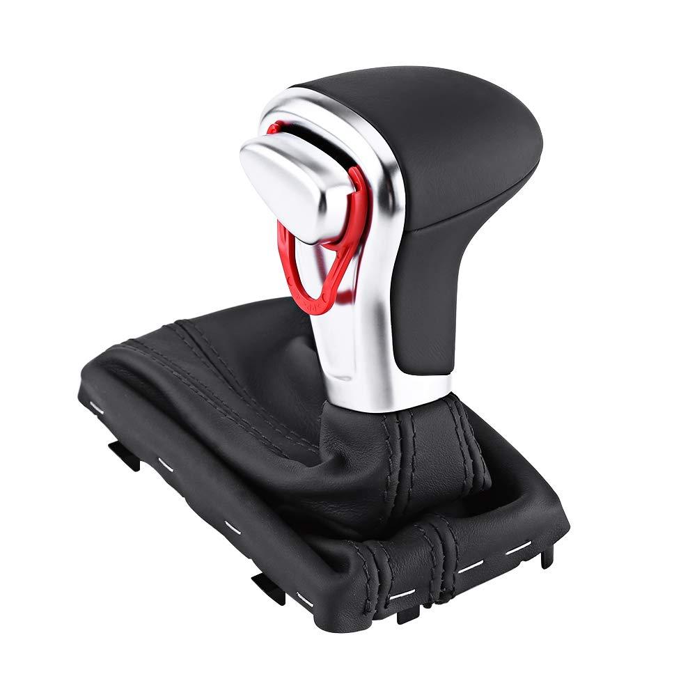 Pomello leva del cambio Gaitor Boot set di cover per A5 A4L Q5 B8 B8PA B9 leva del cambio del cambio leva del cambio in pelle