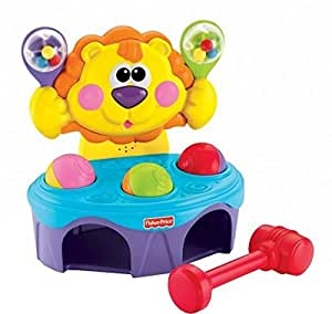 Fisher Price Go Baby Go Bop and Rock Musical Lion , Multi Color , P8792