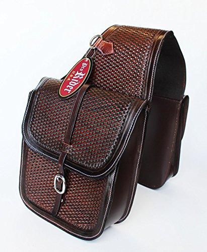 Hand Tooled Saddle (Horse WESTERN SADDLE BAG OR MOTORCYCLE SADDLE BAGS HAND TOOLED LEATHER 10218)