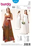Burda Ladies Plus Size Sewing Pattern 6711 Dress & Wedding Dress