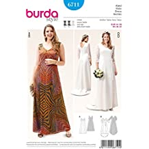 Burda Ladies Plus Size Sewing Pattern 6711 Dress & Wedding Dress
