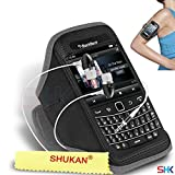 BLACKBERRY Bold Touch 9900 GREY + EARPHONE Adjustable Armband Sport Gym Bike Cycle Running Jogging Sports Case Cover Holder Pouch (BB) with EAR BUDS Stereo Hands Free BY SHUKAN®