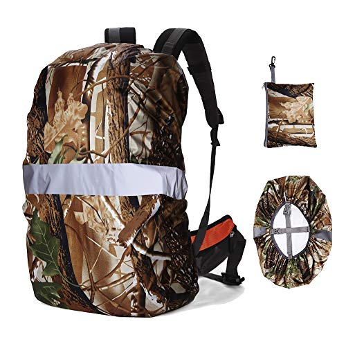 RoseLily Reflective Waterproof Backpack Rain Cover (15-85L) with Cross Buckle Strap and Silver Coating, Rainproof Storage Pouch, Perfect for Hiking Cycling Hunting Camping - Pouch Taffeta