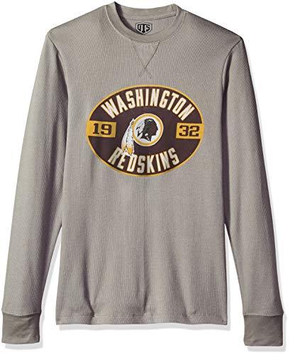 NFL Washington Redskins Male NFL OTS long-sleeve Waffle Distressed, Wolf Grey, Large
