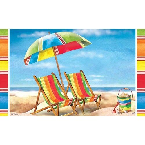 Custom Decor Mat-Beach Chairs - 18