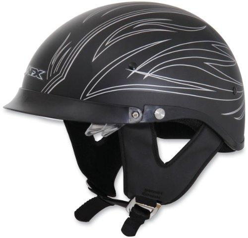 r Lens Half-Style Beanie Helmet, Silver Flat Pinstripe 0103-0759, Size: Md (Afx Beanie Half Helmet)