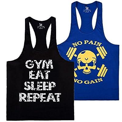 S-muscle Pro Men's Gym Workout Bodybuilding Stringer Tank Top Shirts