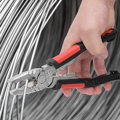 WY-WY 7で1多機能プライヤー、ワイヤーストリッパー、ワイヤーカッターやターミナルクリンパー、クロムバナジウム合金鋼線圧着ストリップハンドツール ラジオペンチ