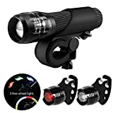 Blinkle Bike Light Set Cycle Light Set with Zoomable Function 3 Modes 3 AA Batteries Powered Bicycle Light Kit Front and Rear Light(with 3 Wheel Light /2 taillight Bike Light)