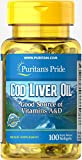 Cheap Puritan's Pride Cod Liver Oil 415 mg-100 Softgels