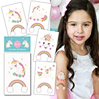 Gooji Unicorn Temporary Tattoos (16 sheets, 32 tattoos) Party Favors and Supplies for Children