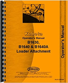 Kubota b1640a loader attachment for b1750 tractor operators manual kubota b1640a loader attachment for b1750 tractor operators manual 2398 free shipping fandeluxe Images