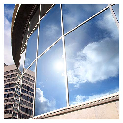 BDF EXS15 Exterior Window Film Privacy and Sun Control Silver 15, Dark - 12in X ()