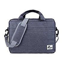 Phenas Canvas Carrying Shoulder Laptop/ Notebook Computer Bag Case Messenger Bag for 11-12 Inch Macbook/Notebook, Grey