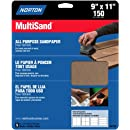 Norton 47720 Multi-Sand Sandpaper 150 Grit, 9-Inch x 11-Inch, 5-Pack