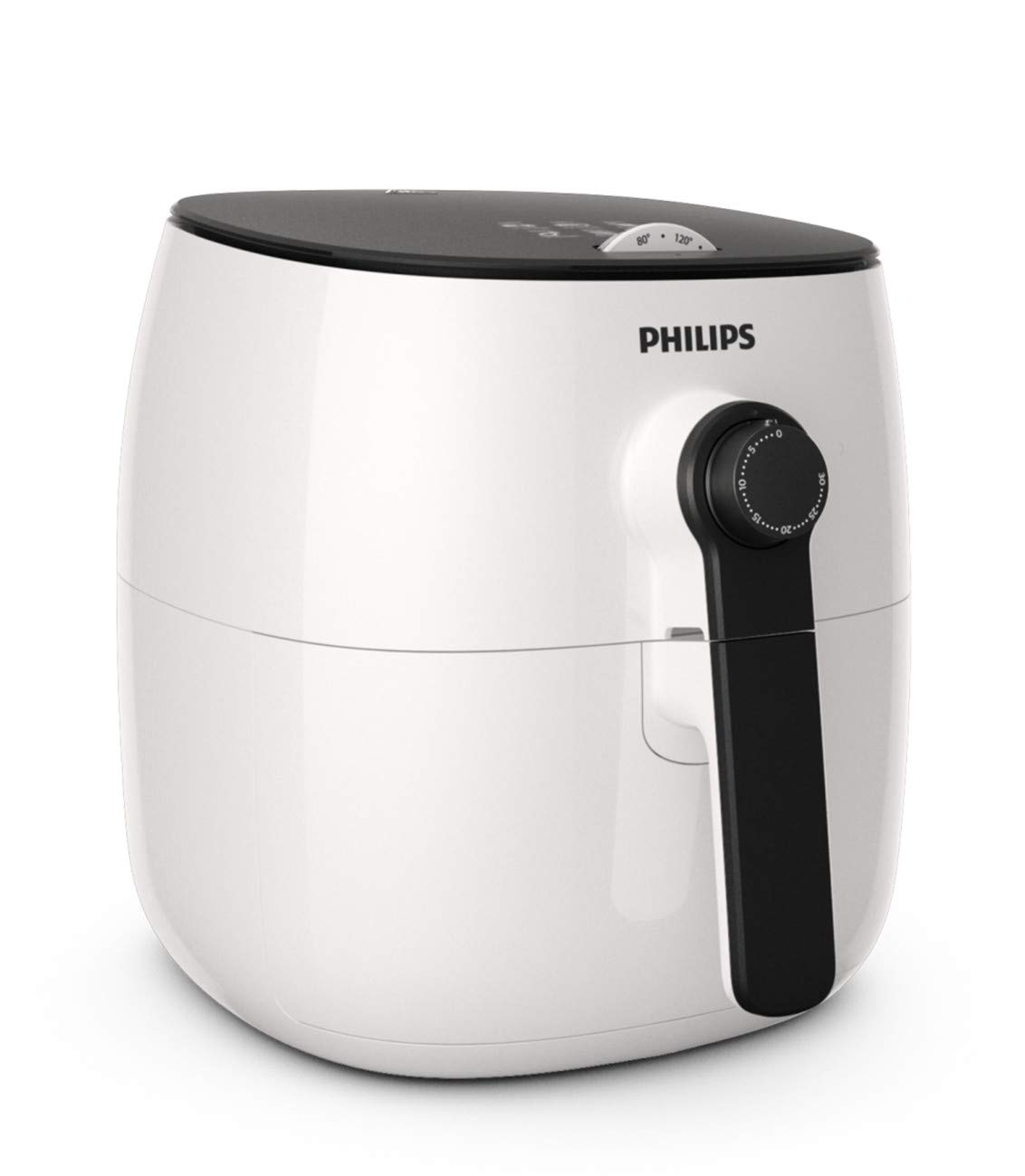 Philips Kitchen HD9621/06 Philips Airfryer, Viva Turbo Star, White, Black Handle