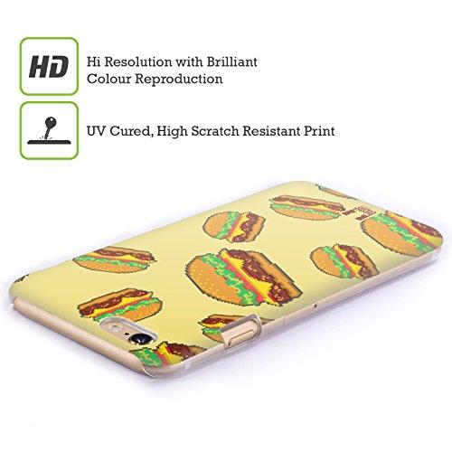 Head Case Designs Burger Cibo Pixel Cover Retro Rigida per Apple iPhone 7 Plus / 8 Plus