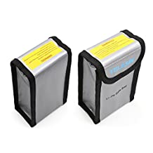 TELESIN Pack of 2 Lipo Safety Guard Fire Resistant Lipo Battery Safe Bag for DJI Phantom 3 Phantom 4 Battery Charging & Storage Manufacturer: TELESIN