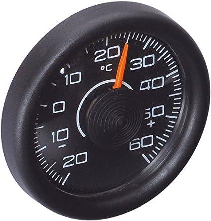 hr-imotion 10110201 Quarz Uhr und Termometer fü r Innen- und Auß entemperatur [ Inkl. Batterien | - 50C - + 70C | 3m Kabel fü r Auß enfü hler | Beleuchtung | Glatteiswarnung   selbstklebend] Richter Herbert