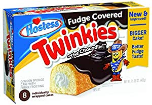 Hostess Twinkies Fudge Covered 8 Count Pack Of 6 Amazoncom