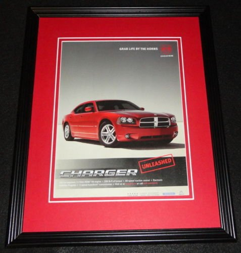 2005 Dodge Charger Framed 11x14 ORIGINAL Advertisement