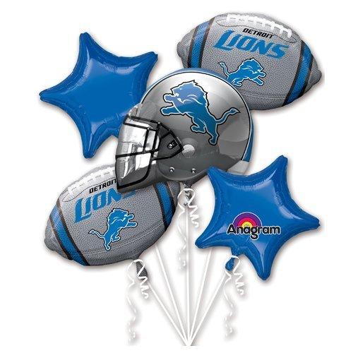Lions Football Balloon - LA Balloons 3141301 Foil, Multicolor