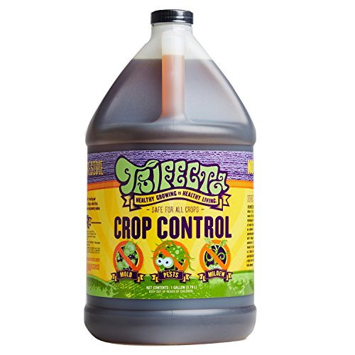 (Trifecta Crop Control - Multi-Purpose Pesticide, Fungicide, Miticide, Non-Toxic, Biodegradable, Naturally Eliminates Mites, Mold and Mildew, 128 oz Gallon (Makes 256 Gallons of Ready to Use Spray))