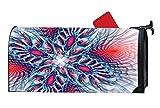 Hot Power Fractal Decorative Magnetic Mailbox Cover Standard Mailbox Wrap Farm Design Vinyl Size 6.5'' x 19''